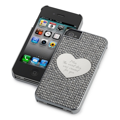 Midnight Bling Heart iPhone 4 Case - UPC 825008333260