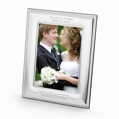 Sterling Silver Beaded 5x7 Frame