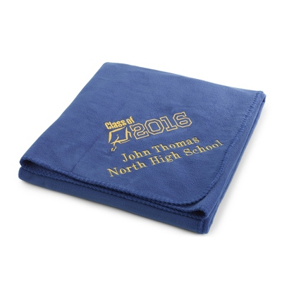 2013 Graduation Royal Fleece Throw - $25.99