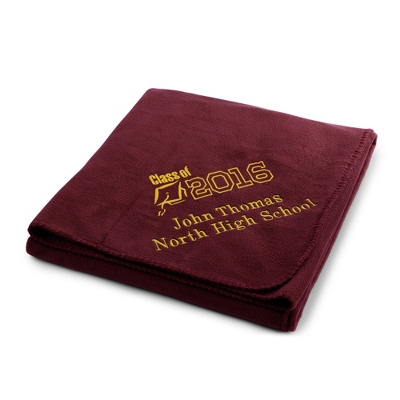2013 Graduation Burgundy Fleece Throw - $25.99