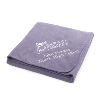 2013 Graduation Lilac Fleece Throw - $22.99