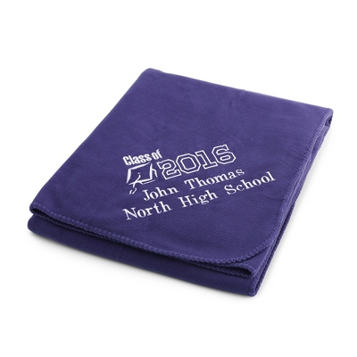 2013 Graduation Purple Fleece Throw - $25.99