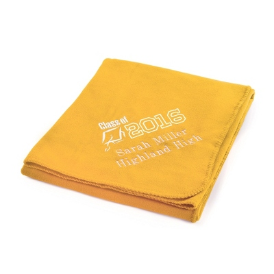 2013 Graduation Bright Yellow Fleece Throw - $25.99