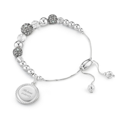 Quartz Pave Lariat Bracelet with complimentary Filigree Keepsake Box - Fashion Bracelets & Bangles