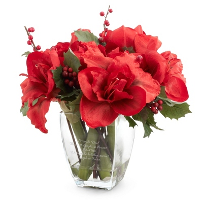 Amaryllis and Berry Flower Arrangement