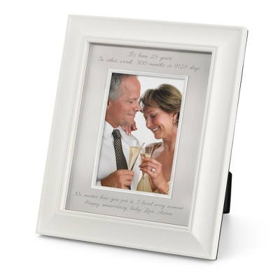 Personalized Portrait Greenwich Silver 8x10 Frame