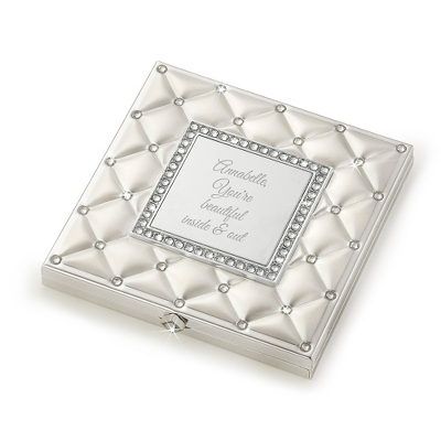 Womens Engraved Compact
