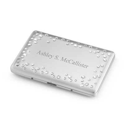Suspended Sparkle Card Case - Business Gifts For Her