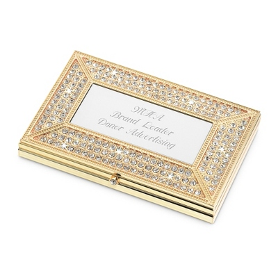 Pave Brilliance Card Case - Purse Accessories