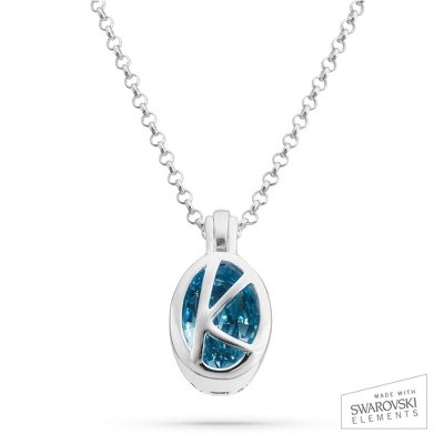 "Sterling Silver Birthstone ""K"" Initial Pendant with complimentary Filigree Keepsake Box"