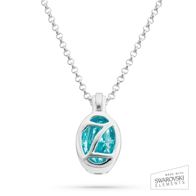 "Sterling Silver Birthstone ""Z"" Initial Pendant with complimentary Filigree Keepsake Box"