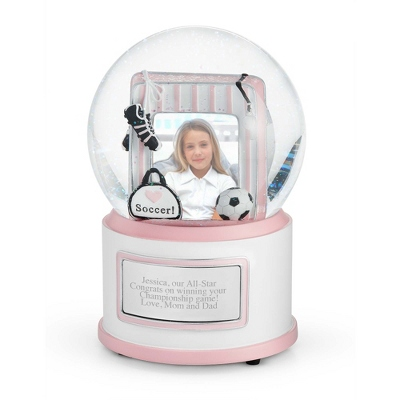 Soccer w/Photo Musical Snow Globe