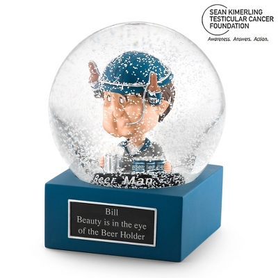 The Beer Man Water Globe - UPC 825008334687