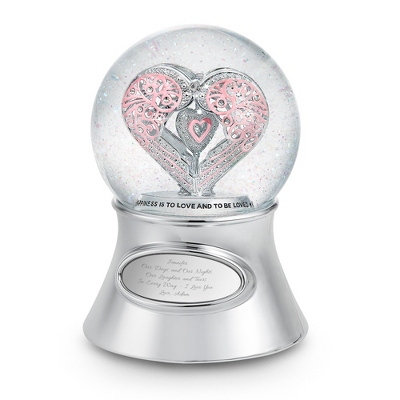 """Say It With Love"" Musical Water Globe - Romantic Wedding"