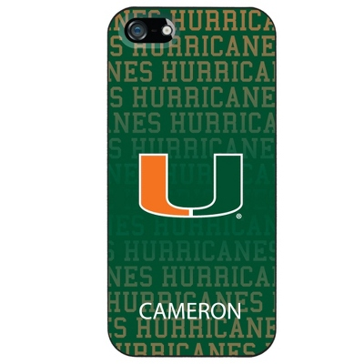 Universiity of Miami NCAA iPhone 5 Case - UPC 825008335349