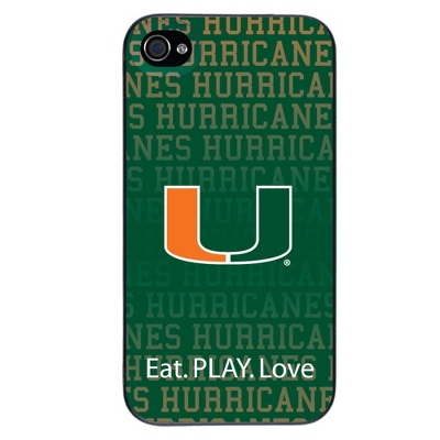 University of Miami NCAA iPhone 4 Case