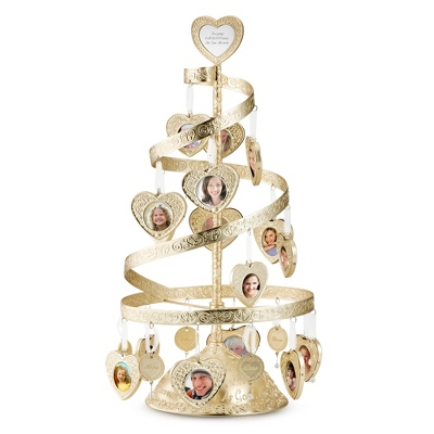 Make-A-Wish Gold Spiral Heart Tree