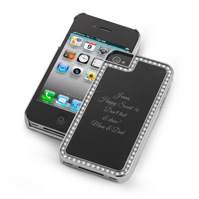 Surrounded Sparkle Black iPhone 4 Case - UPC 825008338227