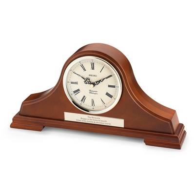 Seiko Dark Oak Tambour Clock