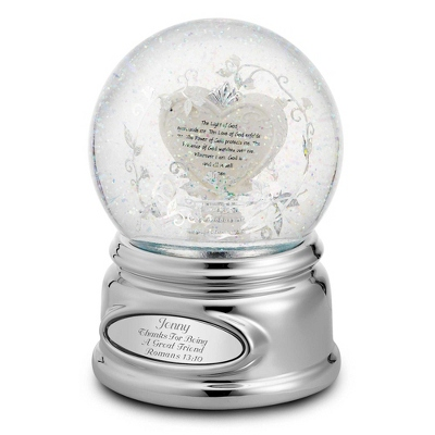 Personalized Light of God Snow Globe by Things Remembered