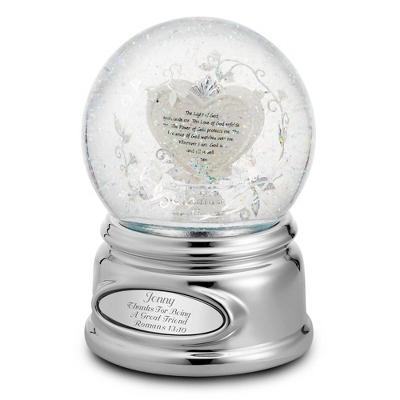 Personalized Light of God Snow Globe - Amazing Grace