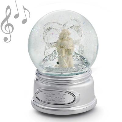 Personalized Angel Ribbon Snow Globe