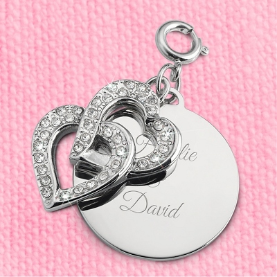 Intertwined Hearts Charm