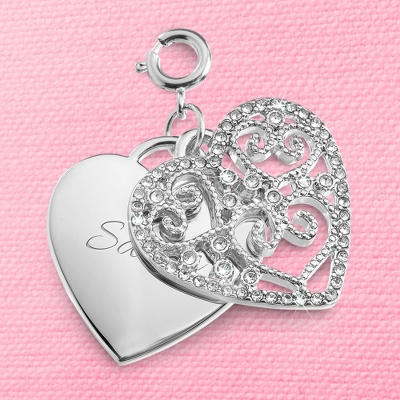 Pierced Heart Swing Charm - Women's & Girl's Jewelry
