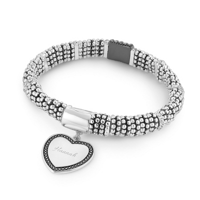 Magnetic Heart Clear Bracelet with complimentary Filigree Keepsake Box