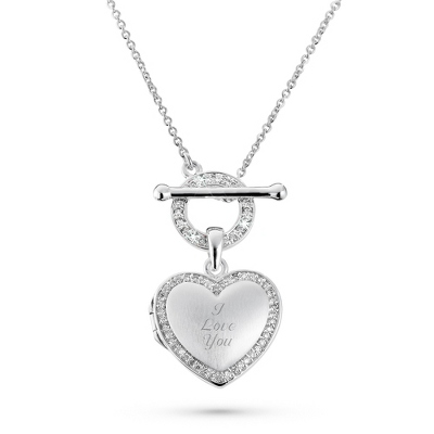 Satin Heart Locket with complimentary Filigree Heart Box