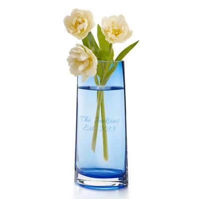 Classic Elegance Blue Oval Vase