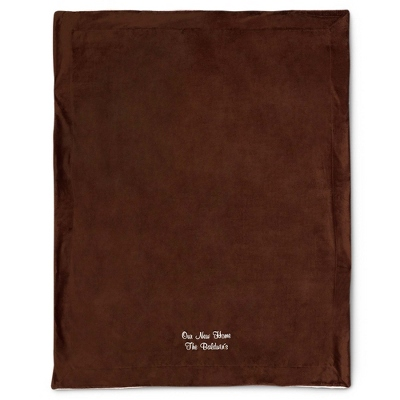 Chocolate Sherpa Blanket