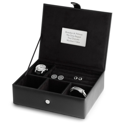 Pebble Grain Men's Valet Box - Men's Accessories