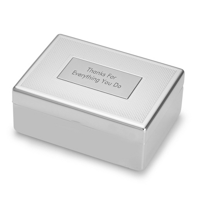 Men's Silver Valet Box