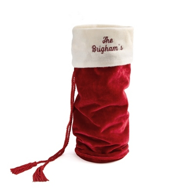 Red Velvet Wine Bottle Holder - $9.99