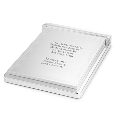 Silver Note Pad - Executive Gifts