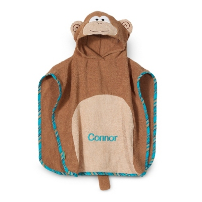 Monkey Hooded Poncho - Hooded Towels & Belly Mats