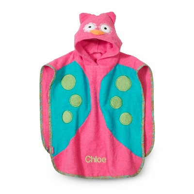 Owl Hooded Poncho - Hooded Towels & Belly Mats