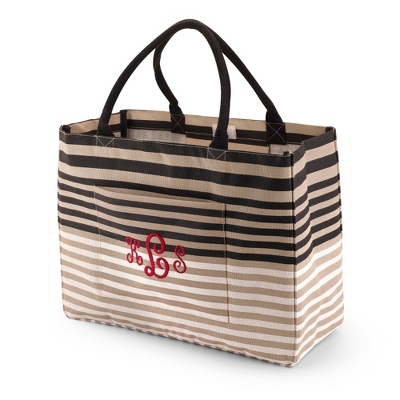 Black Multi Stripes Day Tripper Tote - $25.00