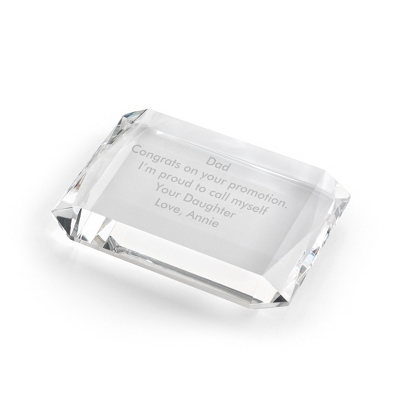 Rectangle Crystal Paperweight - $25.00