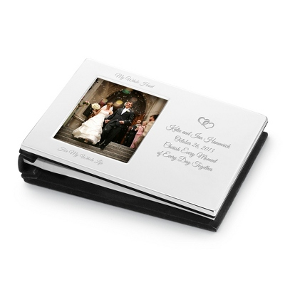 Silver Lacquer Guest Book - Guest Books & Pen Stands