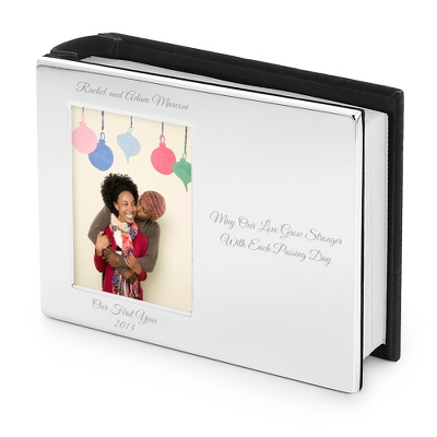 Personalized Silver Wedding Album