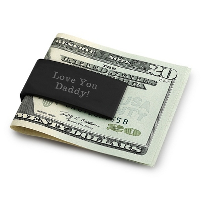 Black & Silver Hinged Money Clip