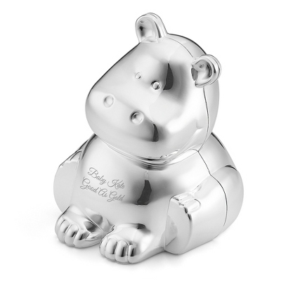 Personalized Silver Piggy Bank