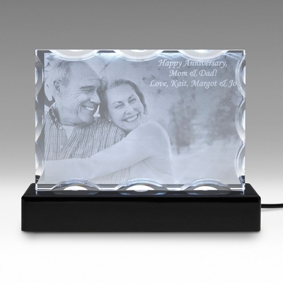 Landscape Special Flat 3D Photo Crystal on Black Base - $250.00
