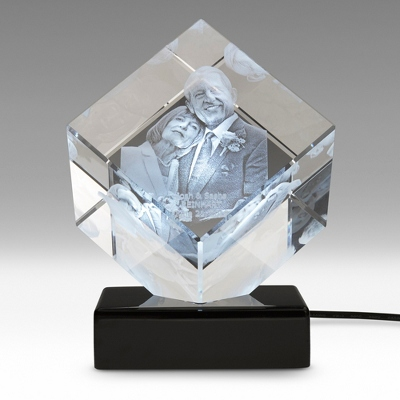 Diamond Photo Crystal on Black Base
