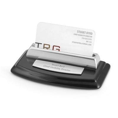 Engraved Business Card Holder on Desk - 2 products