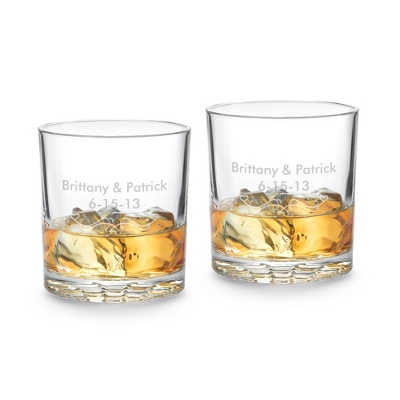 Nachtmann Bossa Nova Set of 2 Double Old Fashioned Glasses - UPC 825008345560