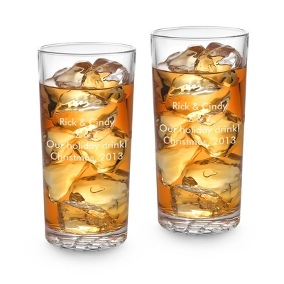 Nachtmann Bossa Nova Set of 2 High Ball Glasses - UPC 825008345577