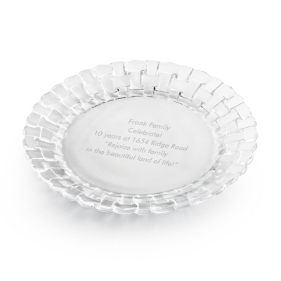Personalized Gift Plates Crystal